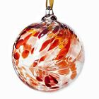 Glass Friendship Ball 12cm Red Amelia Art Glass Free Shipping