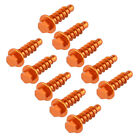 10pcs/Set Orange Fairing Bolt Tapping Screws for KTM Dirt Bike P/N 0017060206
