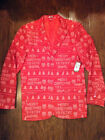 "Ugly Christmas Suit Men's M Red ""Merry Christmaas Filthy Animal"" NEW"