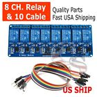 8 Channel 5V Relay Shield Module Board  Cables Arduino Raspberry Pi ARM AVR