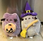 Pusheen Halloween Claires Exclusive Plush Lot Jack O Lantern  Witch Rare New