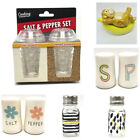 Salt Pepper Shaker Sets Glass Ceramic Stainless Kitchen Everyday Collectible