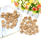 50X wooden love heart shapes for weddings plaques art craft embellishment decors