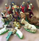 VTG 17 Piece Christmas Nativity LRG 9 ET Italy Hand Painted Lavorazione A Mano