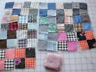 17 1900-20 4 Patch quilt blocks, extra pink fabric squares, nice border blocks