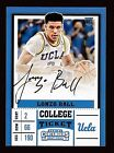 2017-18 Contenders LONZO BALL Auto RC White Jersey Autograph Variation HOT!