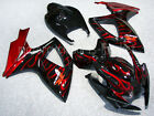 Black W/ Red Fairing Bodywork Injection for Suzuki GSXR GSX-R 600 750 2006-2007