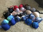 Victoria Secret Lot Of 11 Bras Assorted sizes and styles 34C 34DD