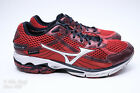 VGC Mizuno Wave Rider 15 Mens Size 115 NO INSOLES Running Shoes Red Black