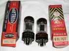 NOS Matched Pair 1950s Raytheon Made 6SL7GT Tubes Same Construction