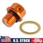 Magnetic Engine Oil Pan Drain Plug w/Gasket For KTM 125-530 SX EXC-R XC XCW XCF