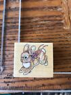 All Night Media Wood Mount Rubber Stamp 359e spring bunny rabbit hop easter