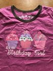 The Childrens Place Pink Cupcake Birthday Girl Shirt Size 7 8 T shirt Sweets TCP