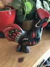 Painted Wooden Rooster Chicken B6416