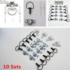 10Sets Motorcycle Quick Release 1/4 Turn Race Fairing Fasteners 17MM Matte Black