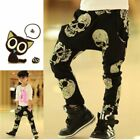 Kids Baby Boys Girls Skull Print Harem Pants Cotton Trousers Toddler PP Leggings