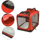 AVC Fabric Pet Carrier Red Folding Dog Puppy Transport Bag (Large) Inc Warranty