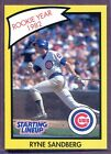 RYNE SANDBERG ~ 1990 Starting Lineup 1982 Rookie Year Card ~ Grade: NM (B643)