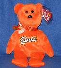 TY COCO PRESLEY the (ORANGE) BEAR BEANIE BABY - MINT with MINT TAG