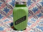 Jadeite Green Glass Range Style Cinnamon Shaker in Excellent Condition