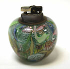 Vintage Murano Glass Table Top Lighter Layered Swirls Ribbon Foil Work