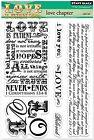Love Is Bible Verse Clear Unmounted Rubber Stamp Set PENNY BLACK NEW 30 163