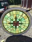 Stained Glass Window Round Church Window Early 1900s Architectural Salvage
