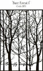 Bare Forest Trees Background Cling Unmounted Rubber Stamp IndigoBlu Stamp BF NEW