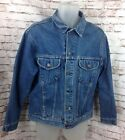 Vintage GAP Pioneer Trucker Denim Work Jean Jacket Mens Large Blue 100 Cotton