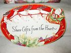 NEW FITZ AND FLOYD SANTA SHARE GIFTS FROM THE HEART COOKIE CHRISTMAS PLATTER