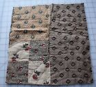 1 1790-1840's Double 4 Patch, beautiful prints, roller print chintz on reverse a