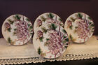 4 FITZ AND FLOYD FINE PORCELAIN KIKU JAPANESE PURPLE CHRYSANTHEMUM SALAD PLATES