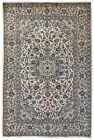 Signed Rug Fine Quality Handmade Ivory 7' x 10' Persian Kashan Rug