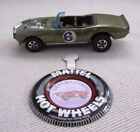 Hot Wheels RedlineLight My Firebird Olive 1969 HK With Button Nice Car