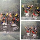 Hand Painted Songbird Glasses - Vintage (Set of 2)