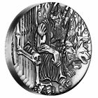 GODS OF OLYMPUS  HADES 2014 2OZ SILVER HIGH RELIEF RIMLESS COIN