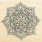 Mandala Flower Design Wood Mounted Rubber Stamp STAMPENDOUS New W193