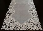 Organza Embroidered Lace Placemat Dining Table Runner White Wedding Bridal Party