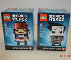 LEGO BRICK HEADZ #41593 CAPTAIN JACK SPARROW & #41594 ARMANDO SALAZAR LOT NEW
