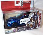 jada transformers blue white police barricade vehicle car 132 scale diecast