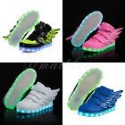 SAGUARO Boys Girls Wings LED Shoes Light Kids Luminous Sneakers Sportswear Gift