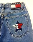 Vtg Womens Tommy Hilfiger Jeans Spellout Star Patch Embroidered Tommy Jeans EUC