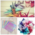 50 Sheets Assorted Colours Origami Folding Square Paper Art Crafts 15x15 10x10cm