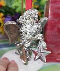 Hallmark Angelic Flight ornament 1998 Silver plated and crystal