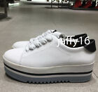 ZARA NEW WOMAN LACE UP PLATFORM SNEAKERS WHITE 35 42 REF 1402 301