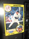 1991 starting lineup card don mattingly new york yankees baseball mlb