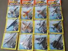 1996 Tyco Matchbox Die Cast Military Airplanes Lot of 12 New in original boxes