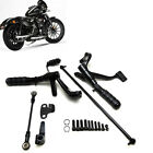 Forward Controls Foot Peg Levers Linkage For Harley Sportster 883 1200 XL Black
