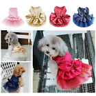Pretty Small S Female Pink Princess Dog Dress Poodles Rottweilers Cheap