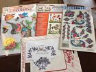 Indoor outdoor rub on transfers Flowers birds bees Angels Crafts Lot of 3 set